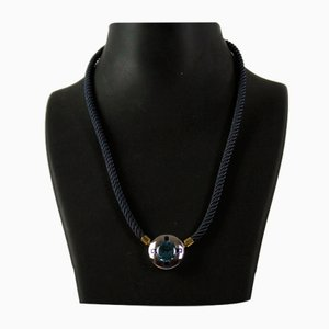 Necklace with Blue Topaz and Sapphires