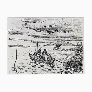Hermann Max Pechstein, attrape-anguille sur le lac Garder