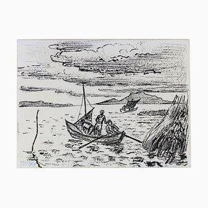 Hermann Max Pechstein, cazador de anguilas en el lago Garder