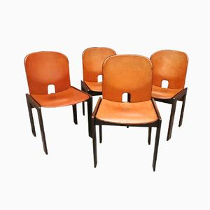 Chaises Modèle 121 par Afra & Tobia Scarpa pour Cassina, Set de 4