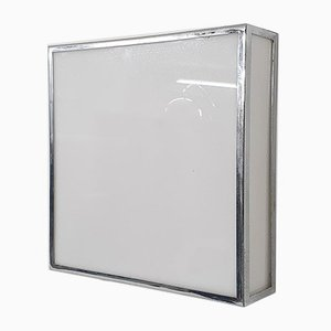 Square Aluminum and Plastic Wall Light