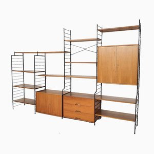Teak and Metal Wall Unit by WHB, Germany, 1950s
