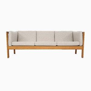 Scandinavian Light Oak 3-Seater Sofa, 1960s