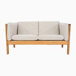 Scandinavian Light Oak 2-Seater Sofa, 1960s