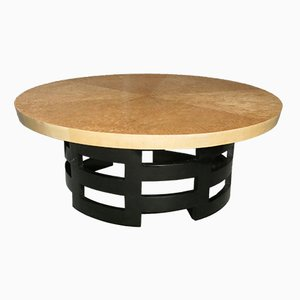 French Art Deco Birch Coffee Table