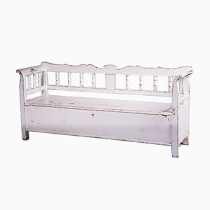White Painted Storage Bench