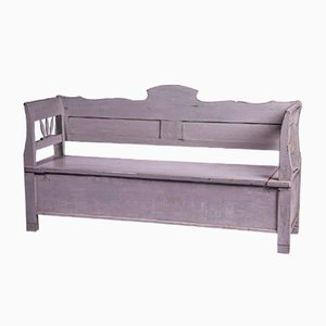 Grey Painted Decorative Bench