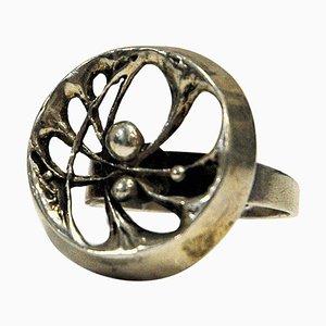 Silberner Spiderweb Ring von Karl Laine, Finnland, 1976