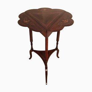 Ausklappbarer antiker edwardianischer Tisch mit Intarsien