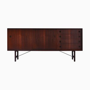 Danish Modern Sideboard in Teak Wood by Ejner Larsen & Aksel Bender Madsen, 1950s