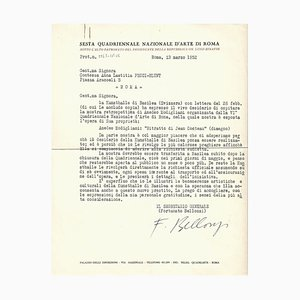 Fortunato Belloni, Quadrennial Art of Rome, Original Letters, 1952/1961