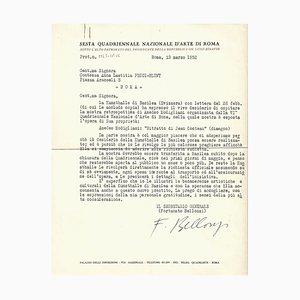 Fortunato Belloni, Quadrennial Art of Rome, Originale Letters, 1952/1961