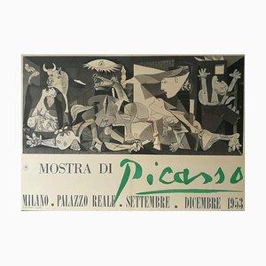Cartel vintage de la exposición de Pablo Picasso Milán, Palazzo Reale, 1953