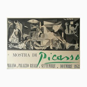 Vintage Poster of Pablo Picasso Exhibition Milan, Palazzo Reale, 1953