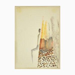 Fausto Melotti, Ohne Titel, Aquarell, 1977
