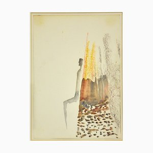 Fausto Melotti, Untitled, Aquarelle, 1977