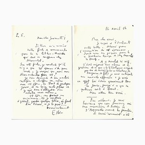 Maurice Esteve & Nesto Jacometti, Grand Pavois, Correspondance, 1956