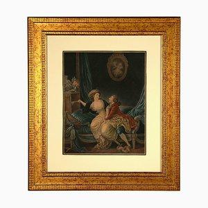 Louis-Marin Bonnet, Intimacy, Originale Radierung, spätes 18. Jahrhundert