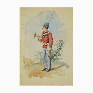 Unknown, Uniform of the Municipal Music Band, Original Ink and Watercolor, 1885