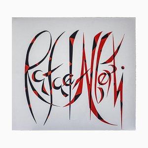Rafael Alberti, Lithographie originale, 1972
