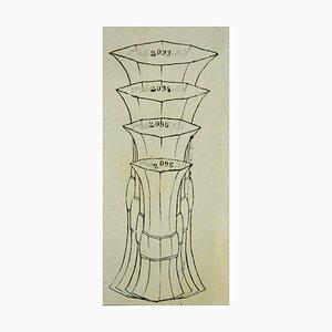 Gabriel Fourmaintraux, Chinesische Vase, Mixed Media, 1940er Jahre