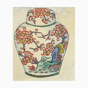 Gabriel Fourmaintraux, Small Amphora, Original Mixed Media, 1940