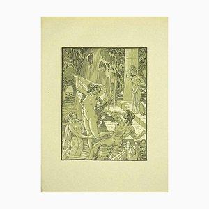 Ferdinand Bac, Allegorie des Wassers, Original Lithographie, 1922