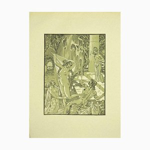 Ferdinand Bac, Allegory of Water, Original Lithograph, 1922