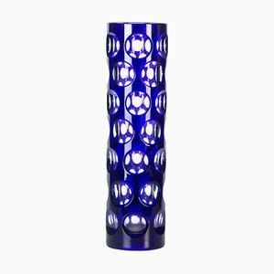 Blue Dots Glass Vase, Italy, 1970s