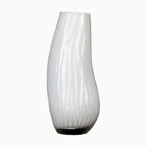 Weiße Glasvase, Italien, 1970er