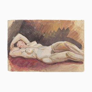 Jean Delpech, donne nude, acquerello originale su carta, metà XX secolo