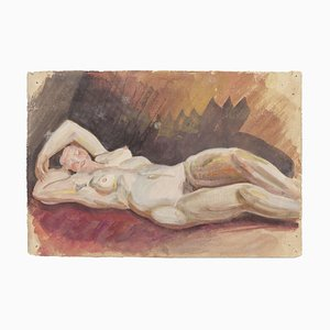 Jean Delpech, Nude Women, Original Watercolor on Paper, Mid-20th Century