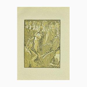 Ferdinand Bac, Bacchantes et musiciens, lithographie originale, 1922