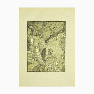 Ferdinand Bac, Ulysses und die Zauberer, Original Lithographie, 1922