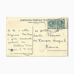 Arturo Noci, Autograph Postcard Signed to Carlo Ferrari, 1907