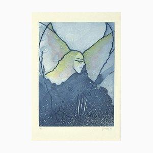 Guelfo Bianchini, the Angel, Original Etching, 1995