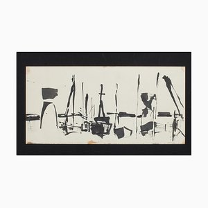 Herta Hausmann, View of a Port, Original Ink Drawing, Mid-20th Century