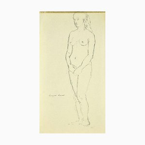 Georges Isaul, Female Nude, Original Ink on Paper, 1940s
