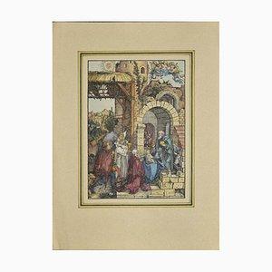 nach Albrecht Dürer, Jungfrau Maria, Holzschnitt, 20. Jahrhundert