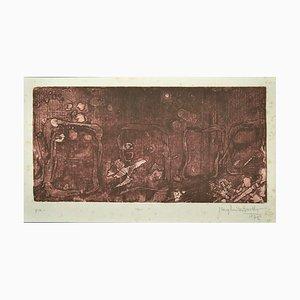 Margherita Benetti, Composition, Original Etching, 1972