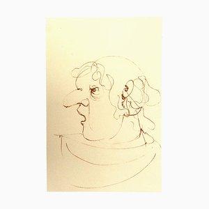 Leonor Fini, Profile, Original Lithograph, 20th Century