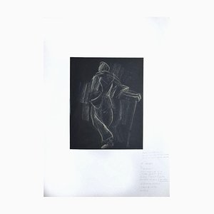 Helen Vogt, eine Figur von hinten, Original Pastell auf Papier, 1935