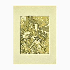 Ferdinand Bac, griechischer Soldat und Bacchant, Lithografie, 1922