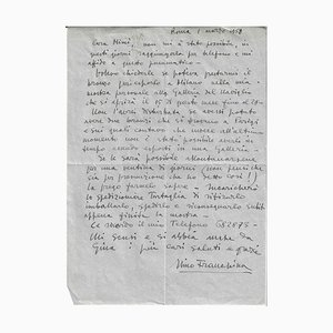 Nino Franchina, Autograph Letter Signed, 1952