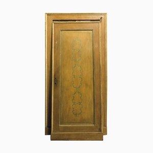 Antike handbemalte Tür mit Rahmen, 18. Jahrhundert, Italien