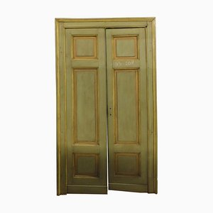 Antike lackierte Türen mit Rahmen, Italien, 19. Jahrhundert