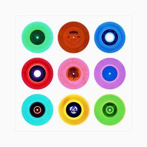 Collection de vinyle, compilation côté B de 7 po, photographie couleur Pop Art 2016