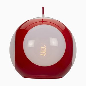 Lampe à Suspension UFO Ball Rouge par Luigi Colani pour Massive Lighting, 1970s