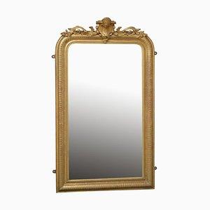 Specchio da molo Luigi Filippo in legno dorato del XIX secolo