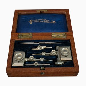 Antique Victorian Trammel Point Set of Draughtsman's Instruments, Stanley, 1900s